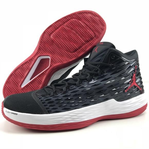 Jordan Melo M13 Men's 15 US Nike Basketball Shoes Black Red Chicago Bulls 881562